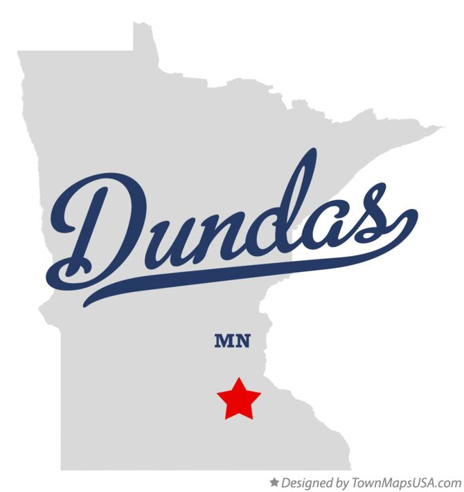 Map of Dundas Minnesota MN