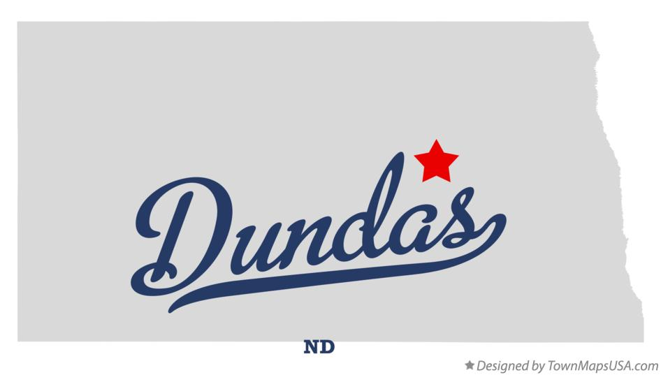Map of Dundas North Dakota ND