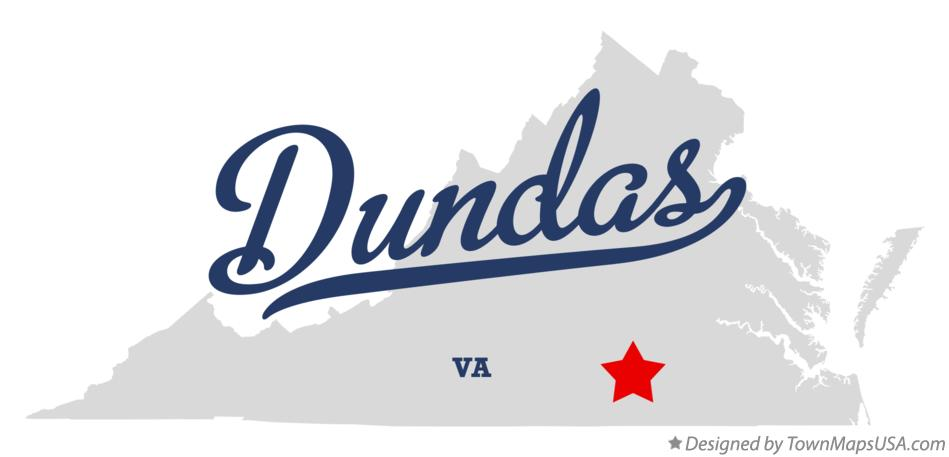 Map of Dundas Virginia VA