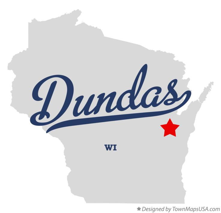 Map of Dundas Wisconsin WI