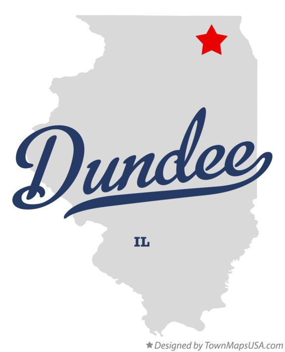 Map of Dundee Illinois IL