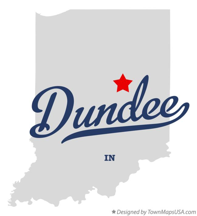 Map of Dundee Indiana IN