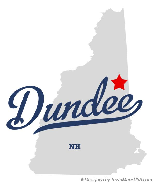 Map of Dundee New Hampshire NH