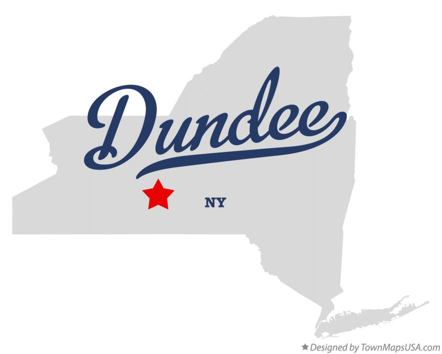 Map of Dundee New York NY