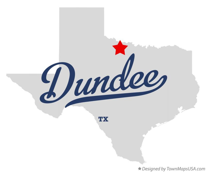 Map of Dundee Texas TX