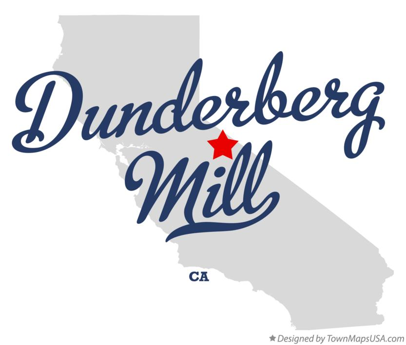 Map of Dunderberg Mill California CA