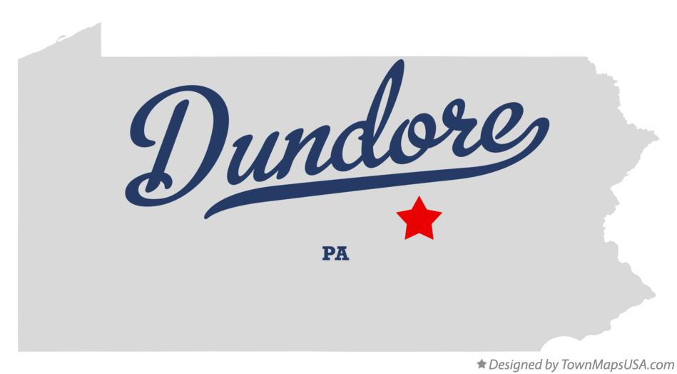 Map of Dundore Pennsylvania PA