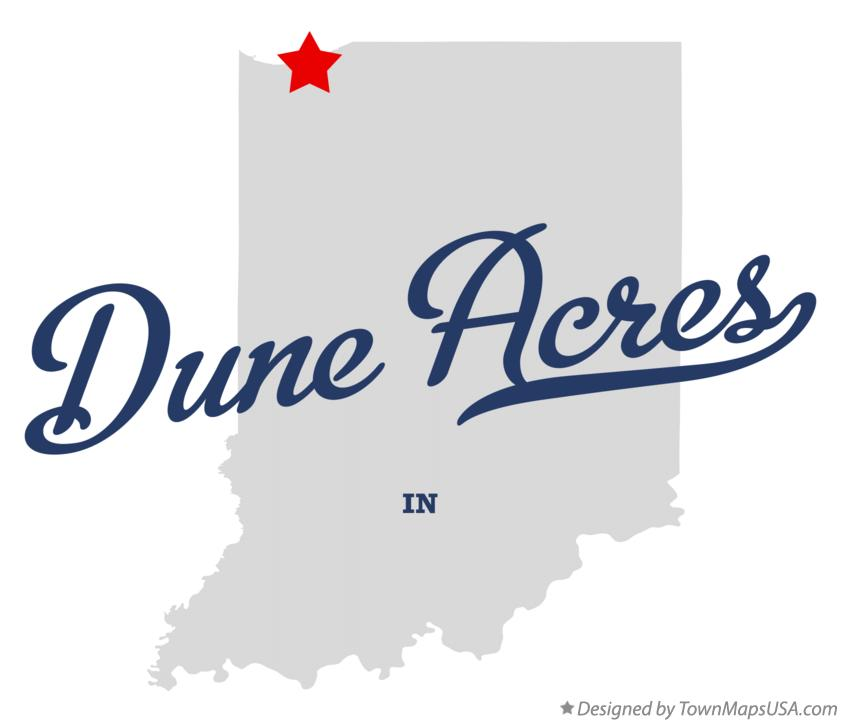 Map of Dune Acres Indiana IN
