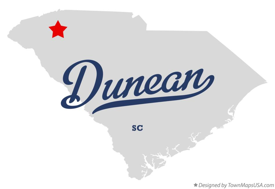 Map of Dunean South Carolina SC