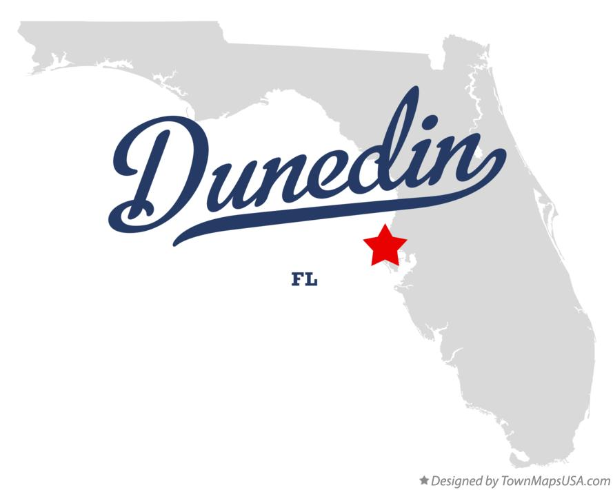 Map of Dunedin Florida FL