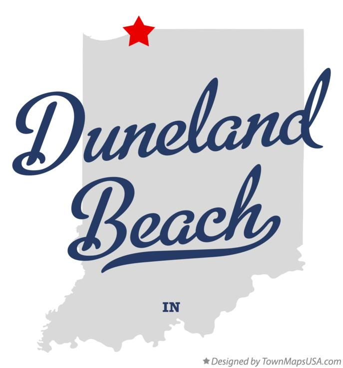 Map of Duneland Beach Indiana IN