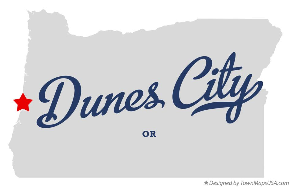 Map of Dunes City Oregon OR