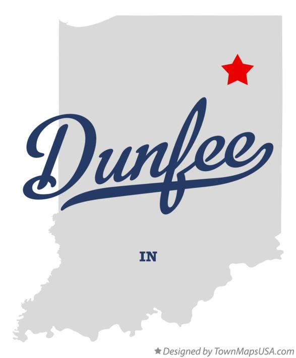 Map of Dunfee Indiana IN