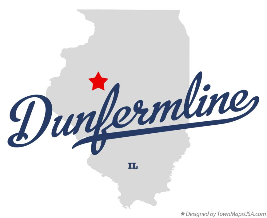 Map of Dunfermline Illinois IL