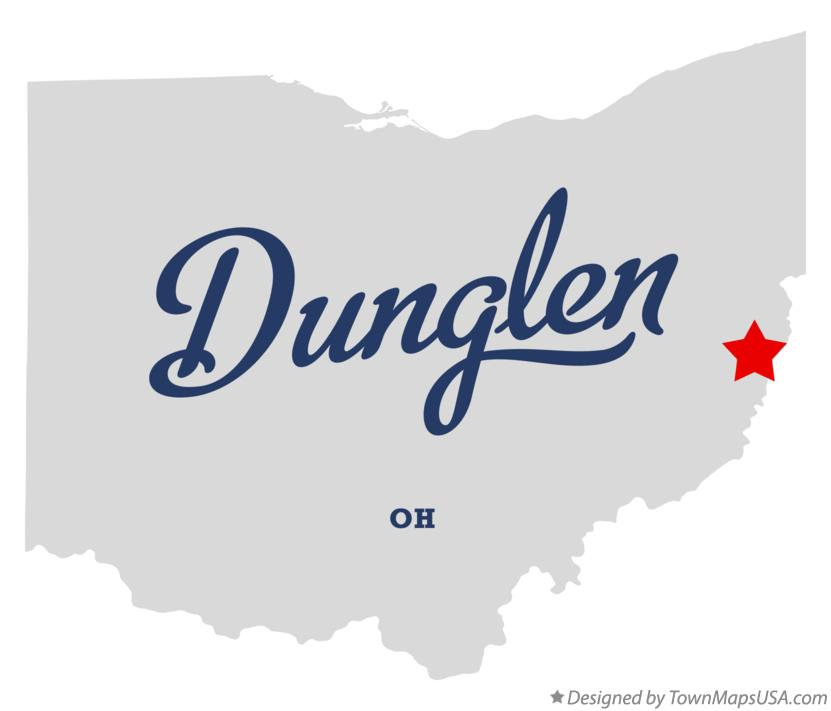 Map of Dunglen Ohio OH