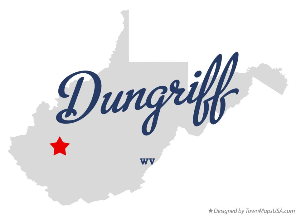 Map of Dungriff West Virginia WV