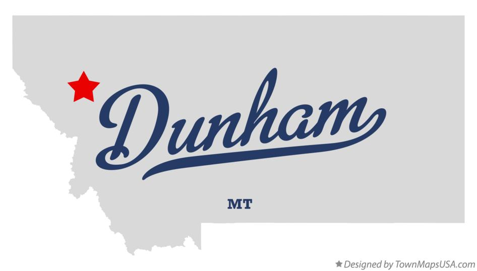 Map of Dunham Montana MT
