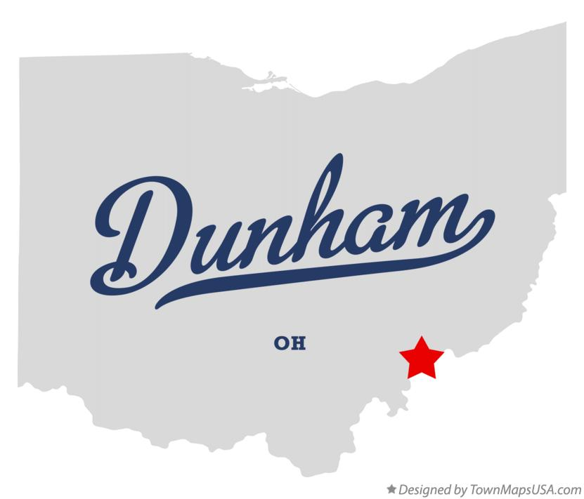 Map of Dunham Ohio OH