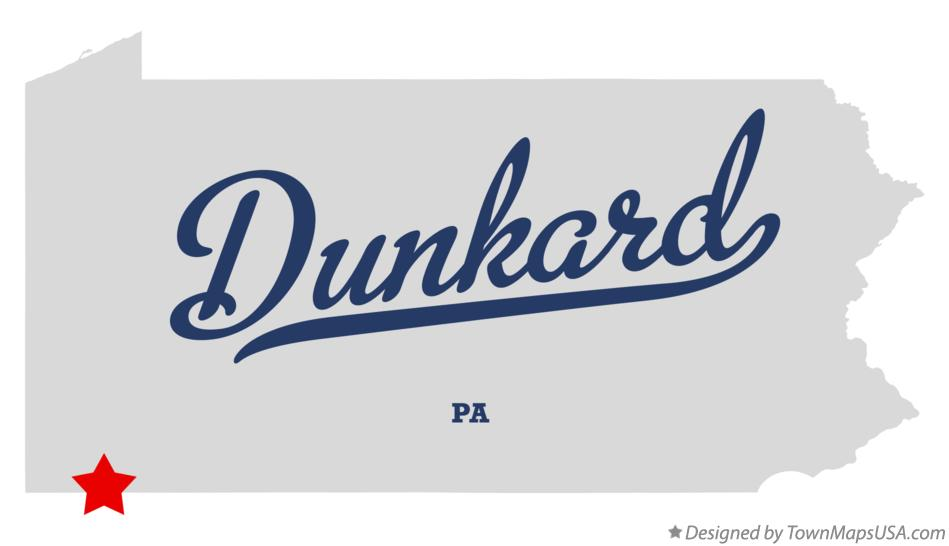 Map of Dunkard Pennsylvania PA