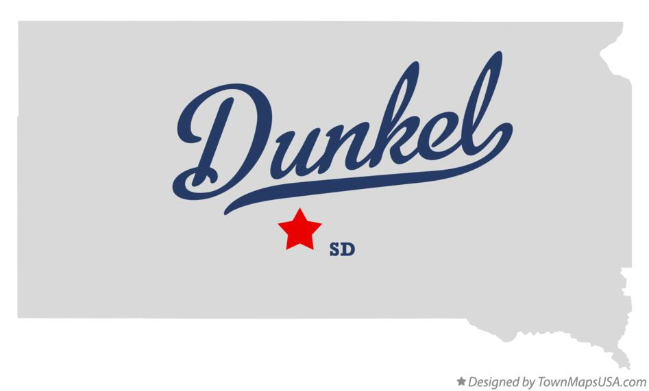 Map of Dunkel South Dakota SD
