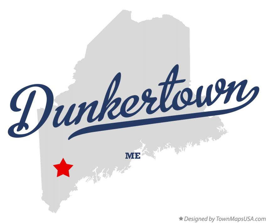 Map of Dunkertown Maine ME