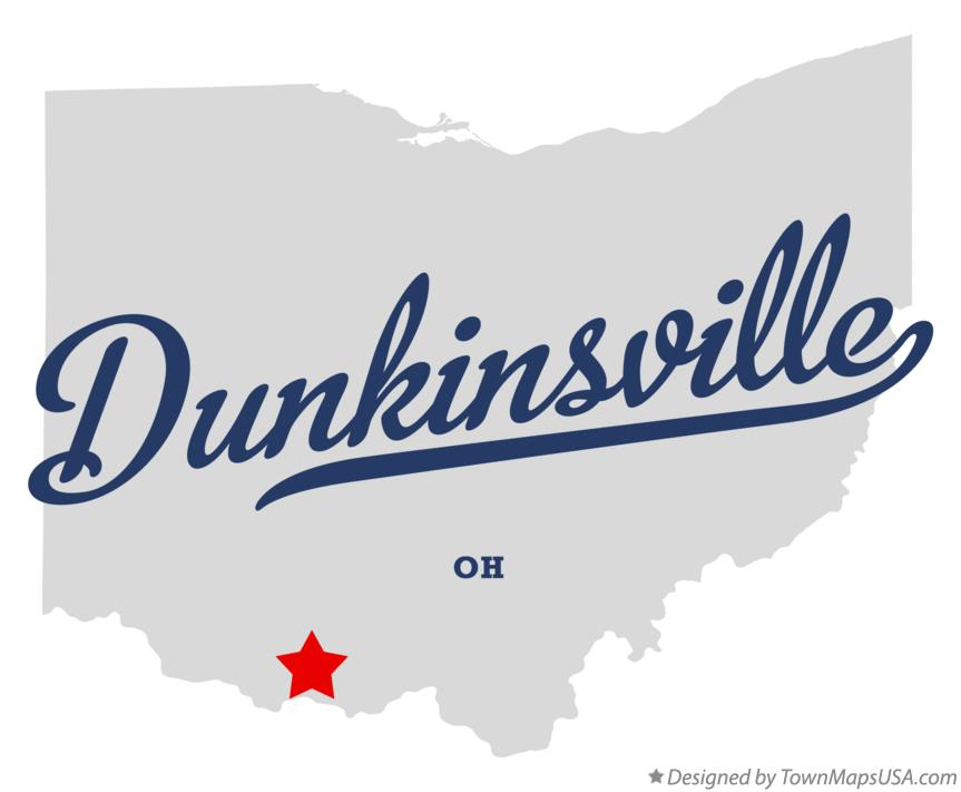 Map of Dunkinsville Ohio OH