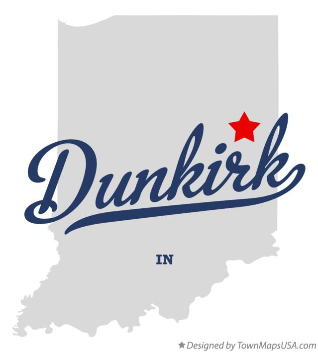 Map of Dunkirk Indiana IN