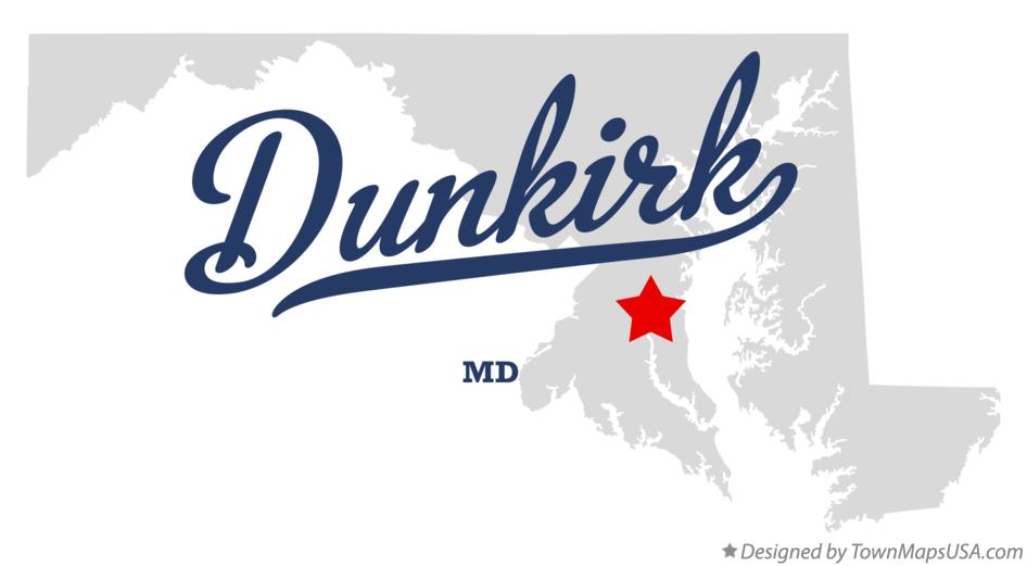 Map of Dunkirk Maryland MD