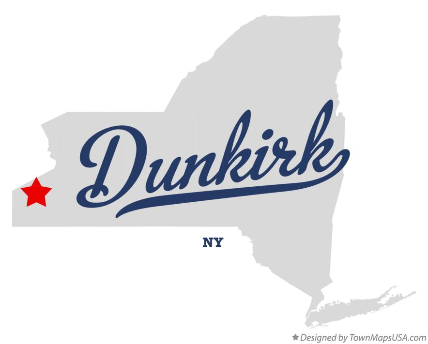 Map of Dunkirk New York NY