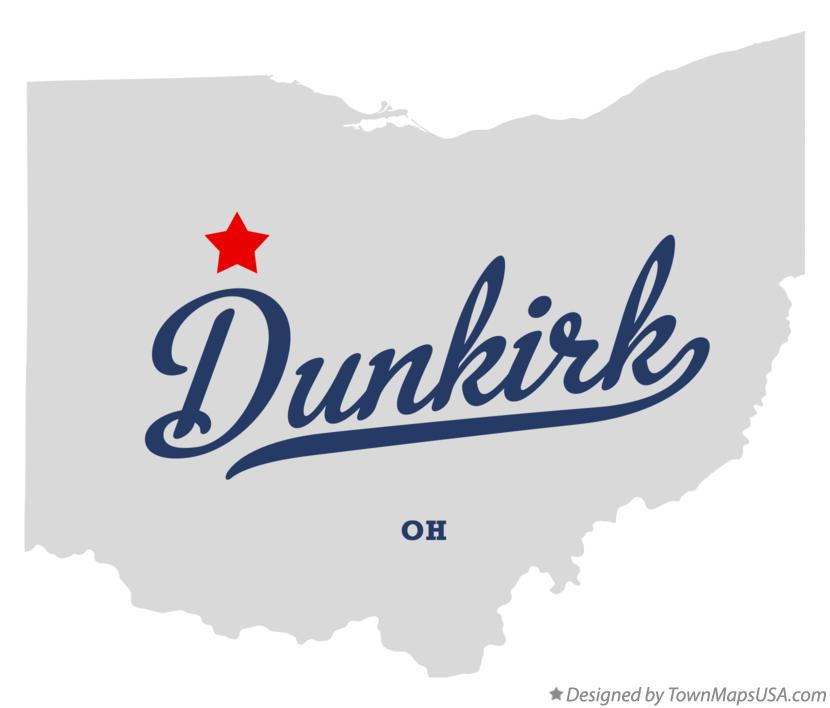 Map of Dunkirk Ohio OH