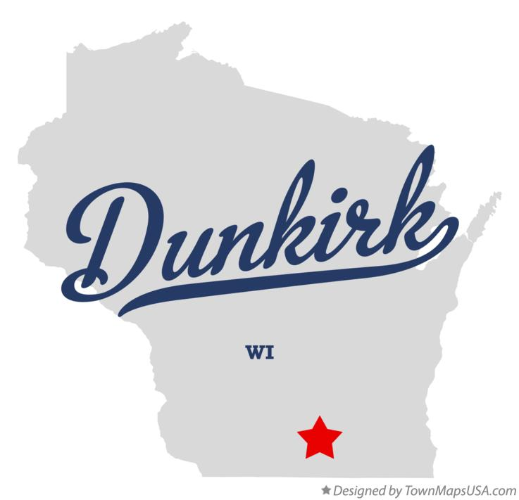 Map of Dunkirk Wisconsin WI