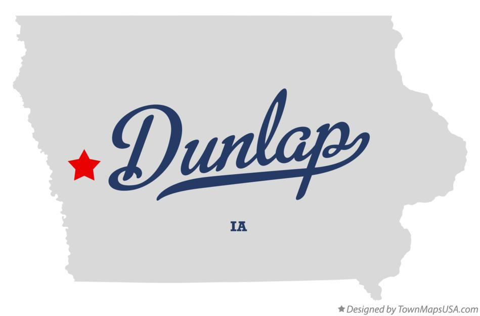 Map of Dunlap Iowa IA