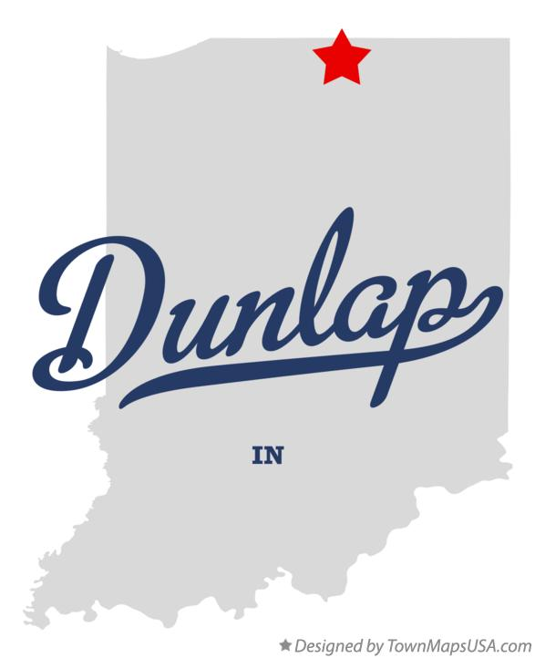Map of Dunlap Indiana IN