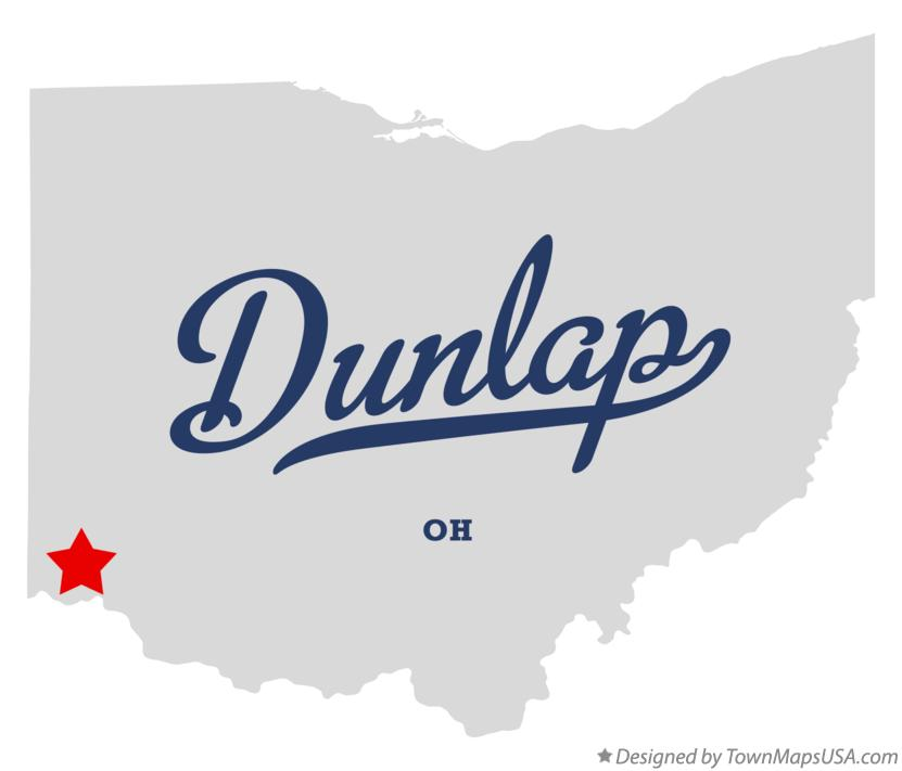 Map of Dunlap Ohio OH