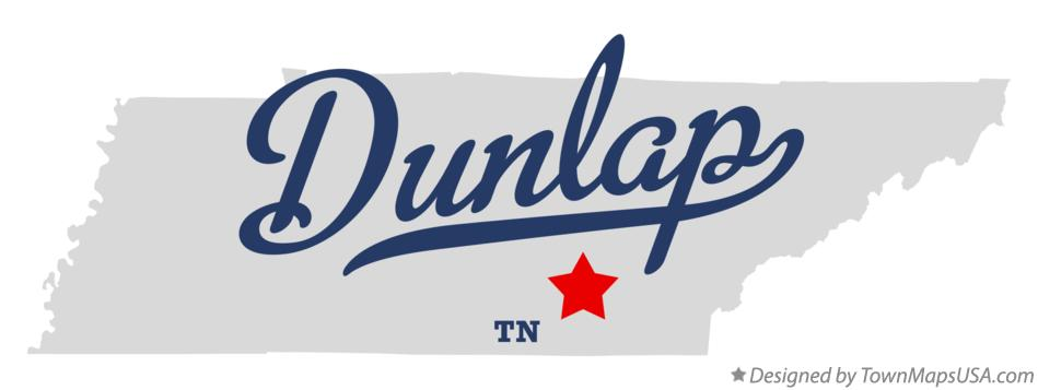 Map of Dunlap Tennessee TN