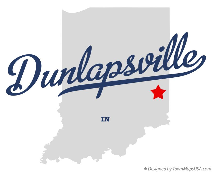 Map of Dunlapsville Indiana IN