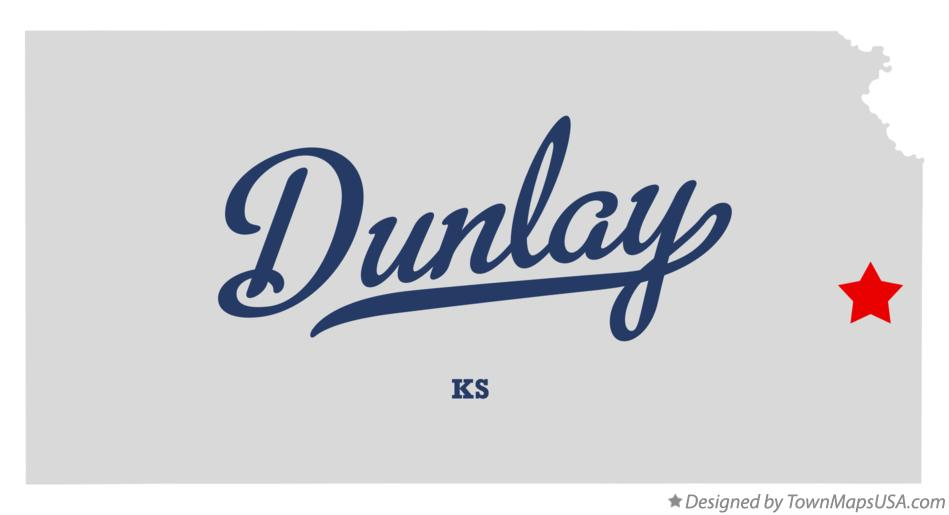 Map of Dunlay Kansas KS