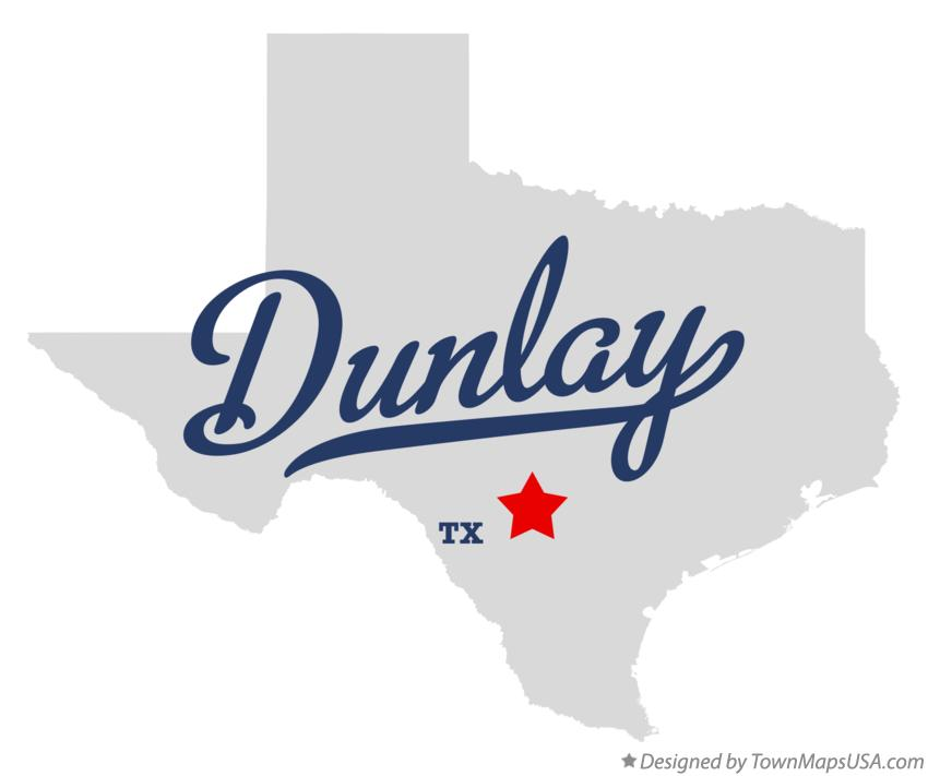 Map of Dunlay Texas TX