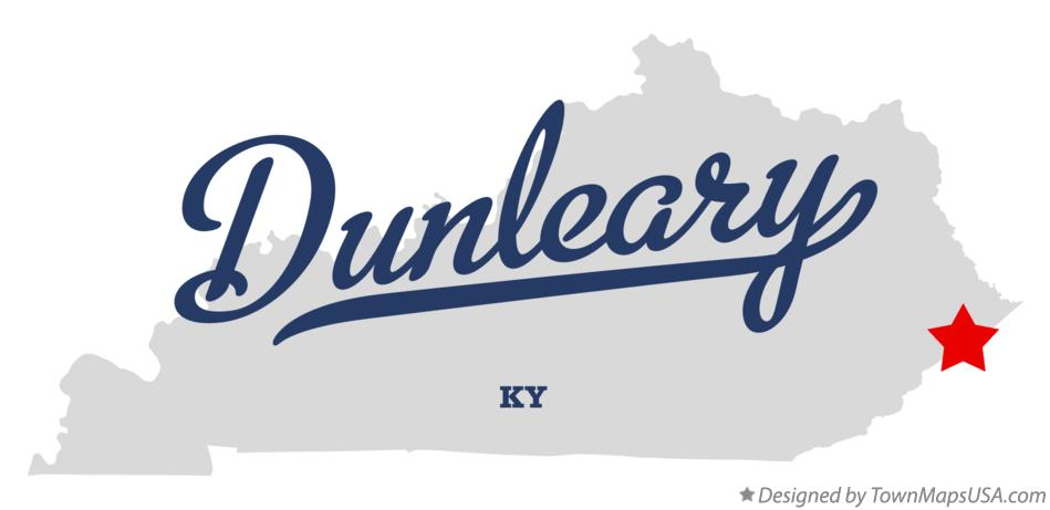 Map of Dunleary Kentucky KY