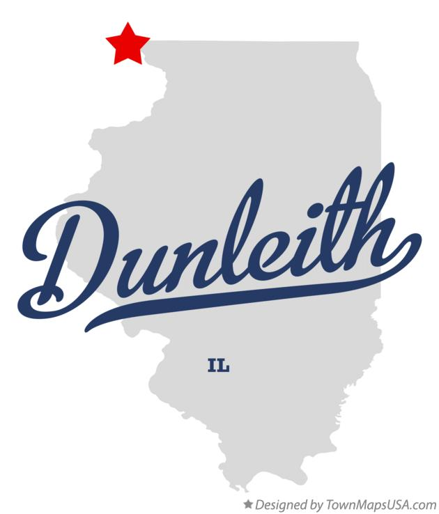 Map of Dunleith Illinois IL