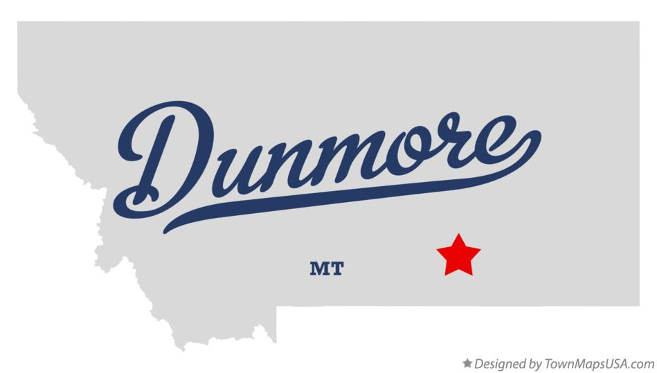 Map of Dunmore Montana MT