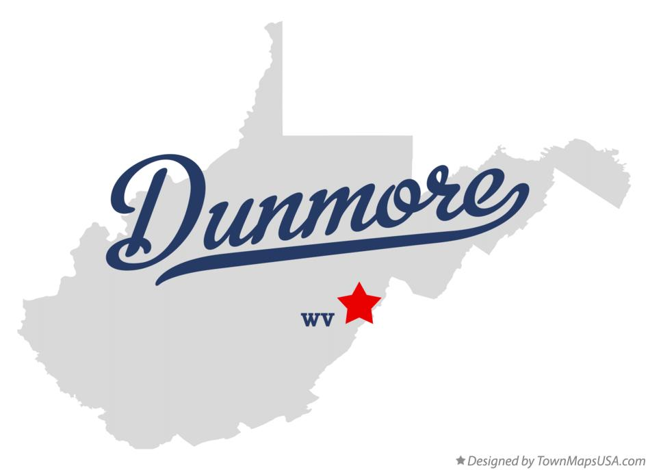Map of Dunmore West Virginia WV