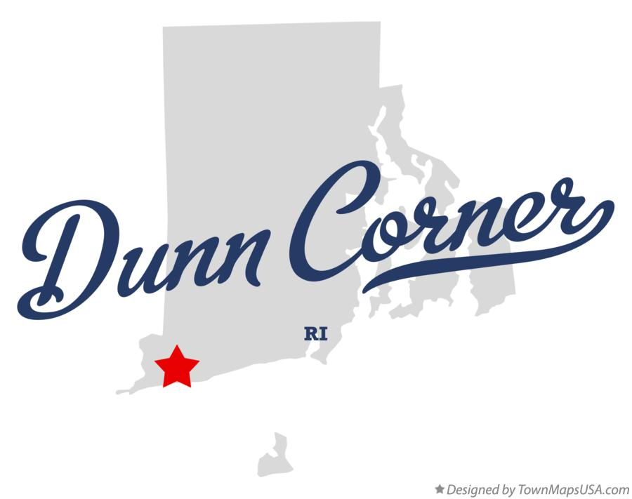 Map of Dunn Corner Rhode Island RI