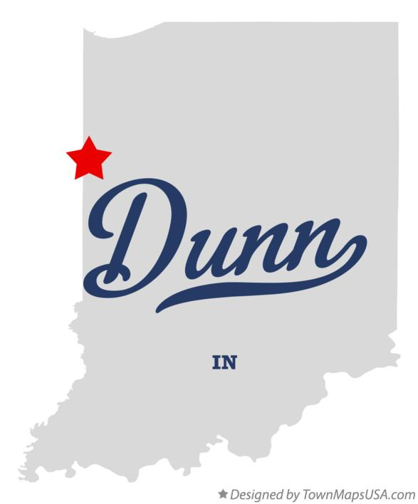 Map of Dunn Indiana IN