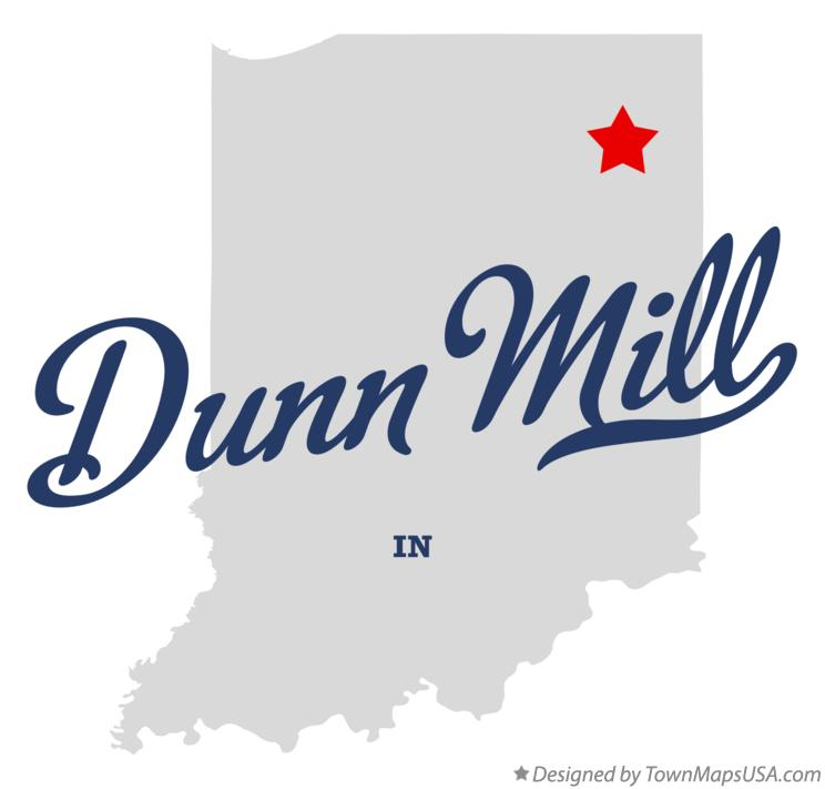 Map of Dunn Mill Indiana IN