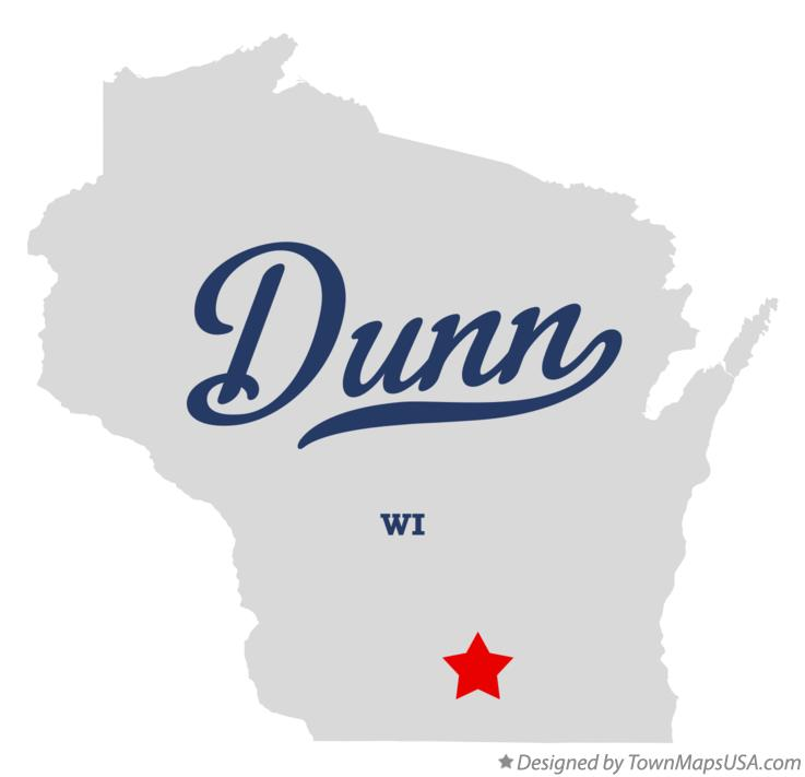 Map of Dunn Wisconsin WI