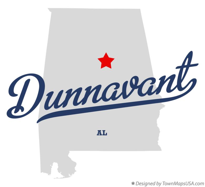Map of Dunnavant Alabama AL