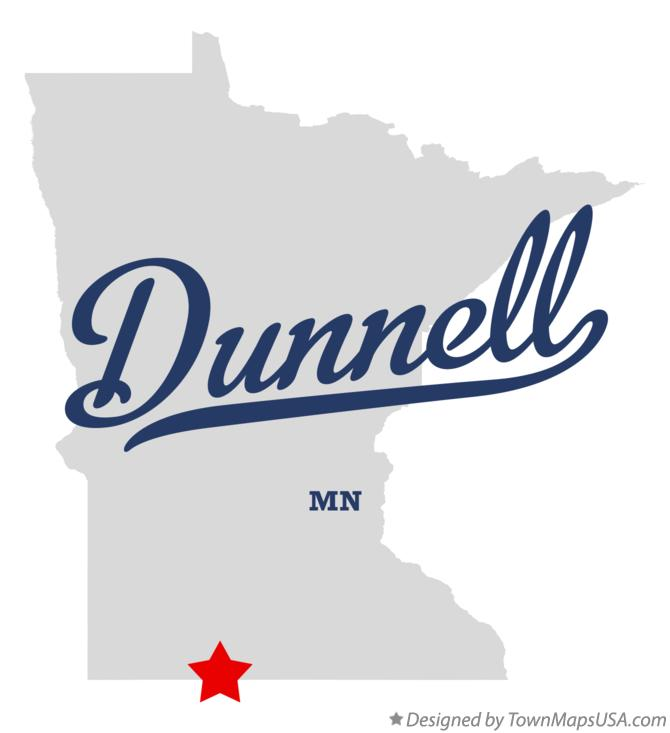 Map of Dunnell Minnesota MN