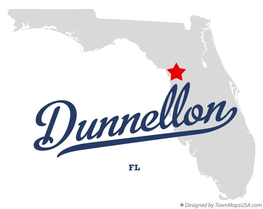 Map of Dunnellon Florida FL