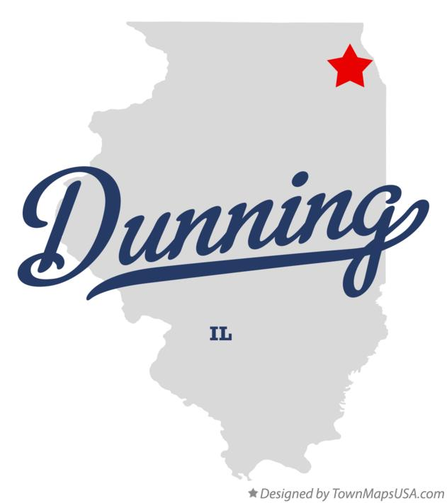 Map of Dunning Illinois IL